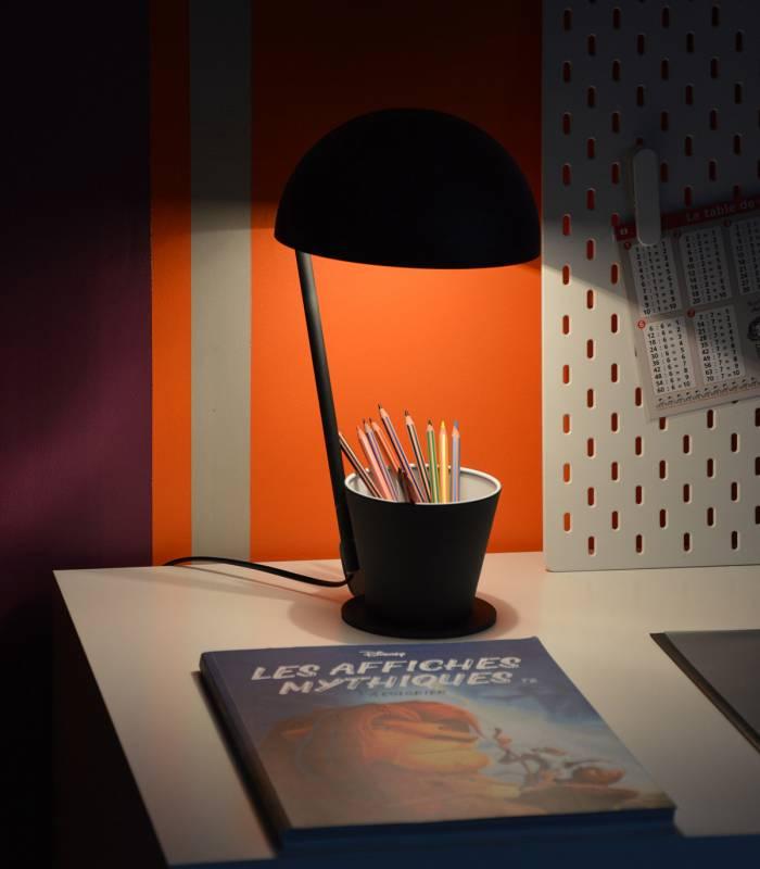 lampe metal noir