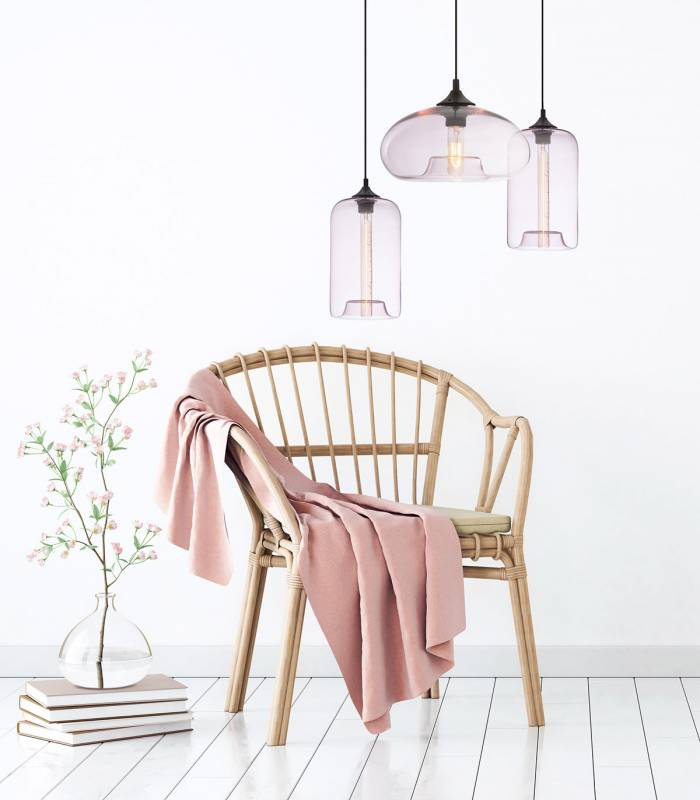luminaire-suspension-rose