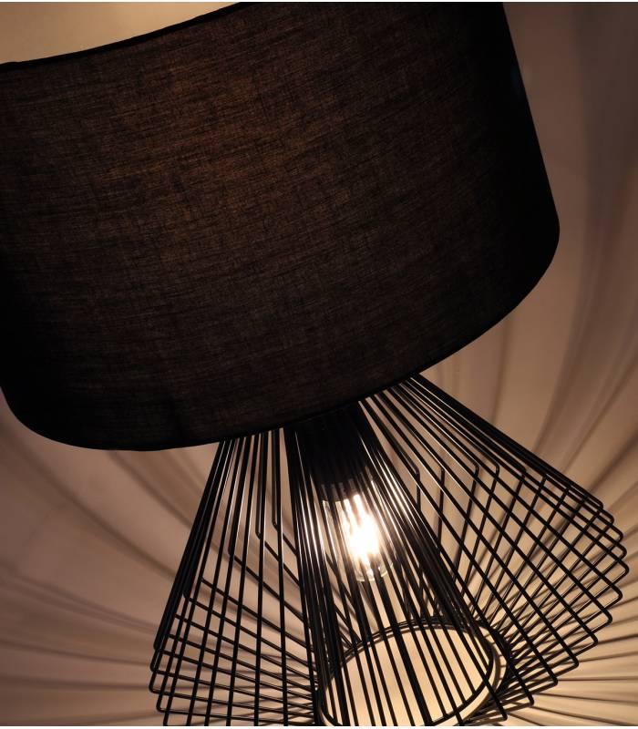 belle-lampe-tissu-metal-fillaire-noir