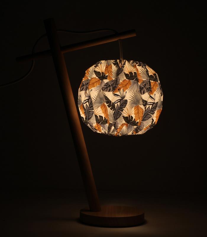 Lampe TIPPI Feuilles bleues