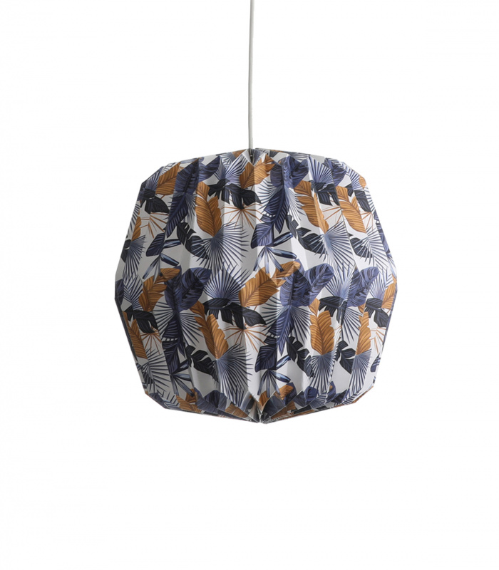Suspension TIPPI feuilles bleues