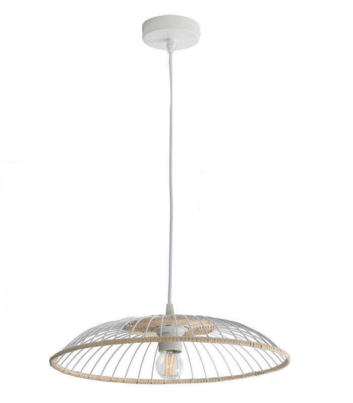 Suspension SOLIFLORE  40 cm Blanc