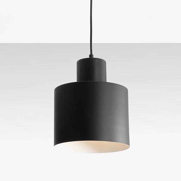 luminaire, suspension en métal noir