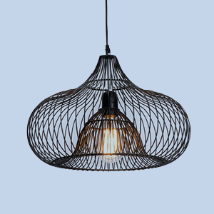 Suspension filaire noir design